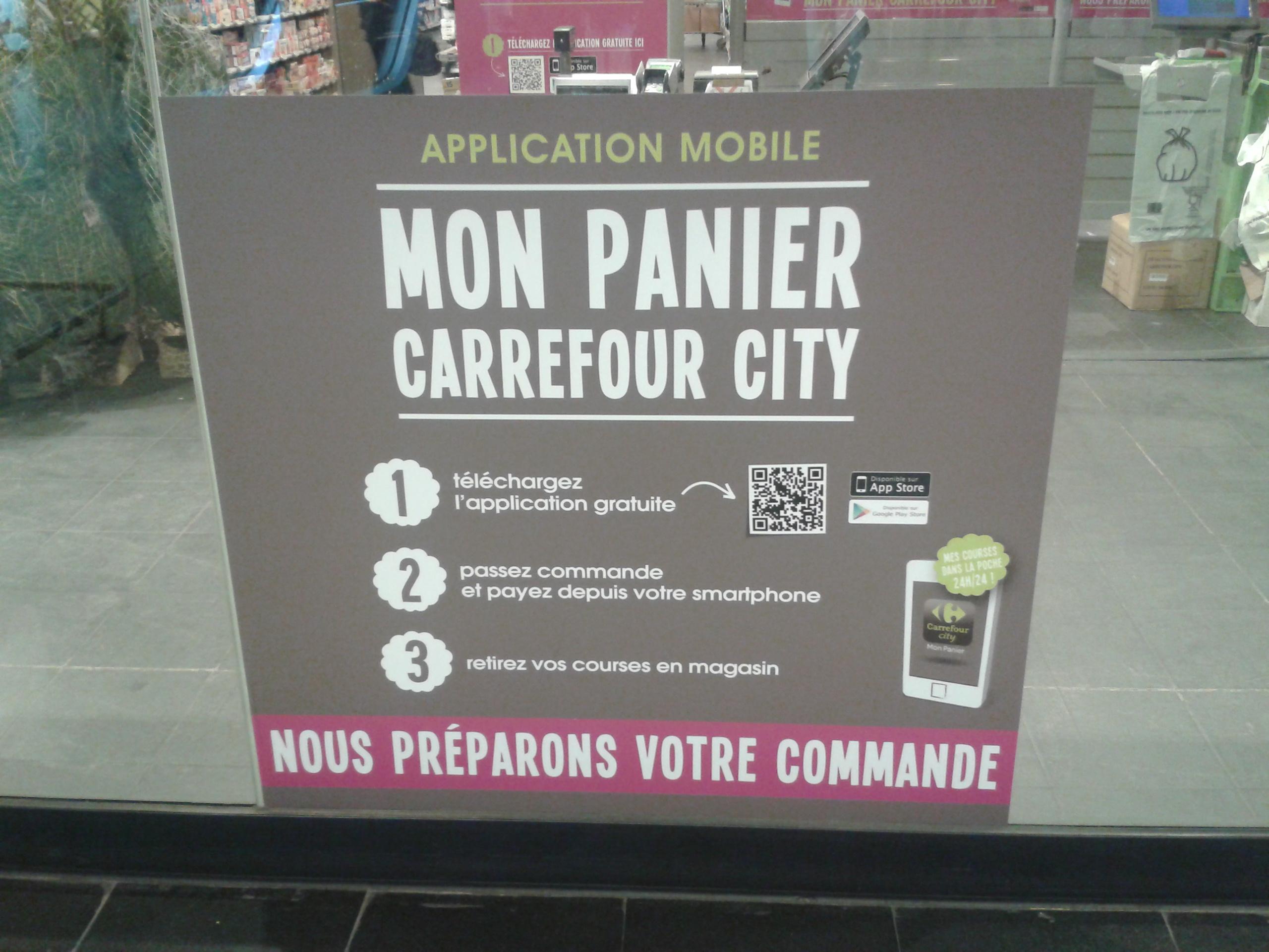 Drive piéton du Carrefour City Gare St Lazare