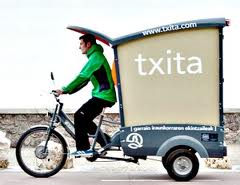 cargo-cycle de la société Txita- San Sebastian