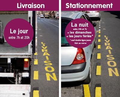 places de livraison partagées à Paris