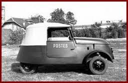 véhicule postal électrique pendant la seconde guerre mondiale