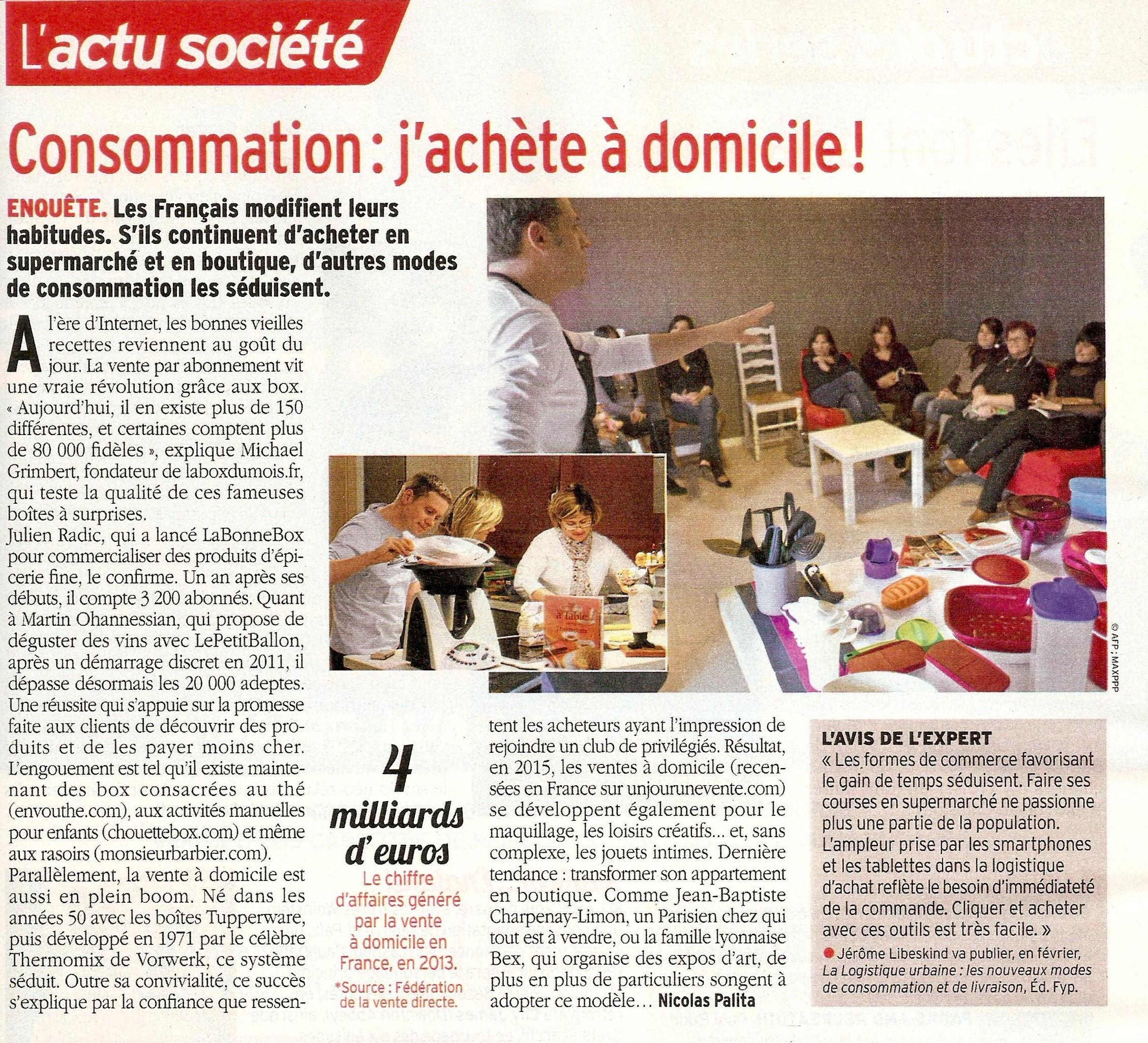 Article Télé 7 Jours du 17 janvier 2015 avec interview de Jérôme Libeskind