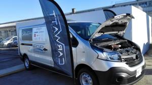Véhicule Renault Trafic rétrofité par Carwatt