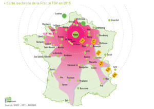 carte isochrone